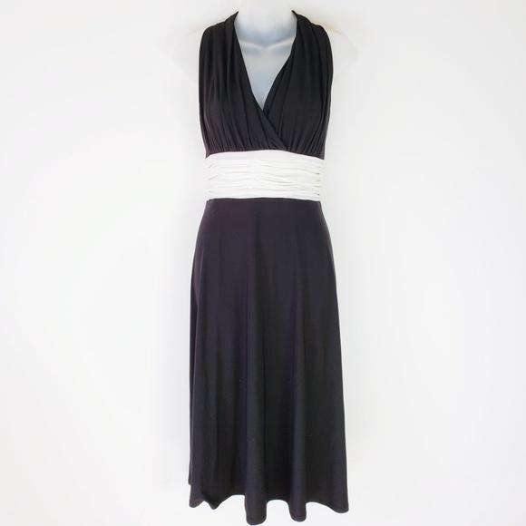 Evan Picone Dresses Classy Black Halter Midi Dress Poshmark